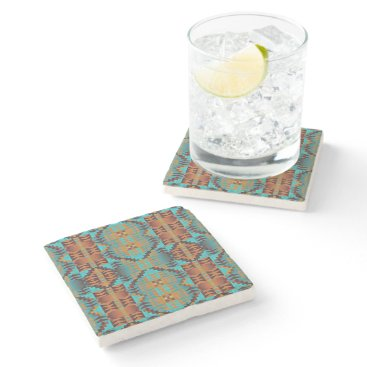 CozyCreekCabin Ethnic Native American Indian Tribal Pattern Art Stone Coaster