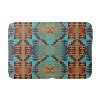 Ethnic Native American Indian Tribal Pattern Bathroom Mat