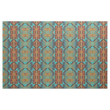 Aztec Themed Ethnic Native American Indian Tribal Pattern Fabric