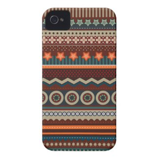 Ethnic Native Indian Pattern iPhone 4 Case