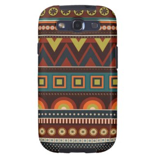 Ethnic Native Indian Pattern Samsung S3 Case Galaxy SIII Case