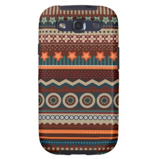 Ethnic Native Indian Pattern Samsung S3 Case Samsung Galaxy SIII Cases