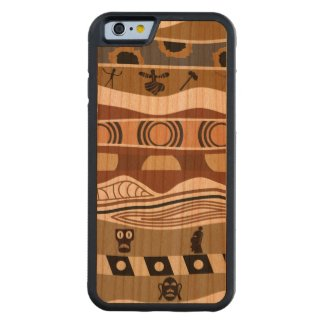 Ethnic Native Pattern Carved® Cherry iPhone 6 Bumper