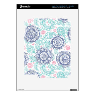 Ethnic Paisley Pattern Skin For iPad 3