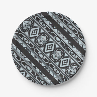 Ethnic pattern american traditional ornament paper plate