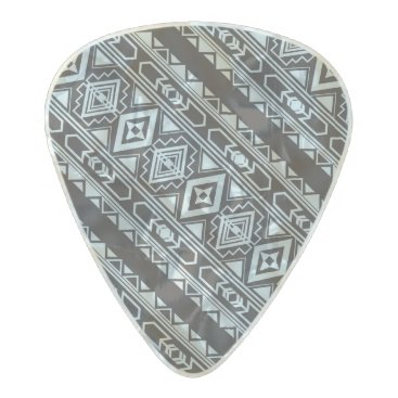 Aztec Themed Ethnic pattern american traditional ornament pearl celluloid guitar pick