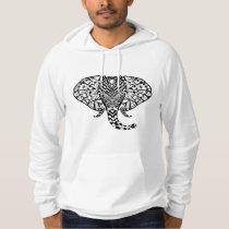 Ethnic Pattern Elephant Hoodie