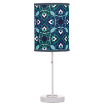 Ethnic pattern in shades of blue lamps
