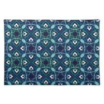 Ethnic pattern in shades of blue placemats