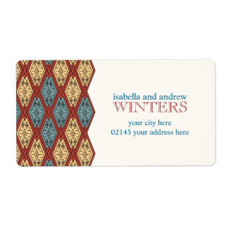Ethnic Pattern - Summer Time Shipping Label
