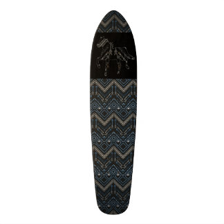 Ethnic pattern with american ornament skateboard