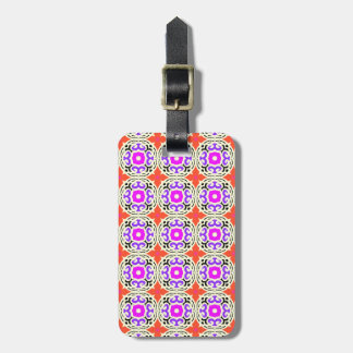 Ethnic Pattern with Moroccan Motifs Bag Tag