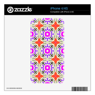 Ethnic Pattern with Moroccan Motifs Decal For iPhone 4