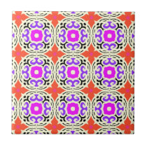 Ethnic Pattern with Moroccan Motifs Tile