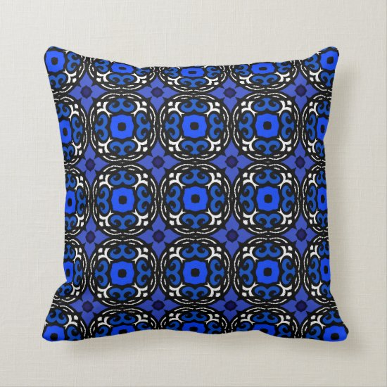 Ethnic Pattern with Turkish Motifs Throw Pillow