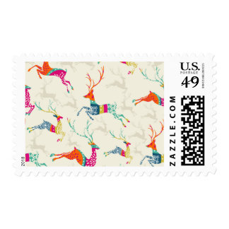 Ethnic Patterned Reindeer Postage
