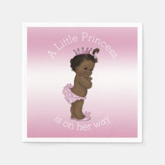 Ethnic Pink Little Princess Baby Shower Paper Napkin