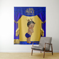 Ethnic Prince Baby Shower Backdrop Banner