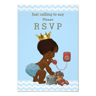 Ethnic Prince Just Calling to Say Please RSVP Card