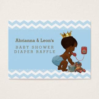 Ethnic Prince on Phone Chevrons Diaper Raffle Business Card
