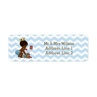 Ethnic Prince Phone Suitcase Baby Shower Chevrons Label