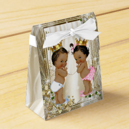 Ethnic Prince Princess Baby Shower Favor Box