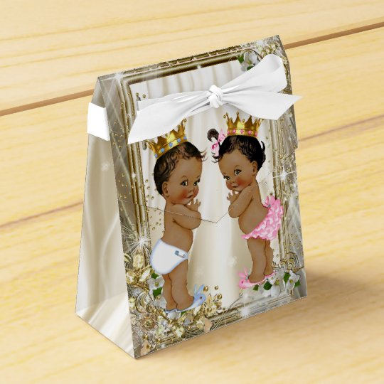 Prince Baby Shower Favors: Ethnic Prince Princess Baby Shower Favor Box