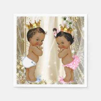 Ethnic Prince Princess Baby Shower Napkin