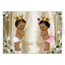 Ethnic Prince Princess Baby Thank You Card