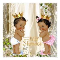 Ethnic Prince Princess Gender Reveal Baby Shower Invitation