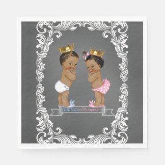 Ethnic Prince Princess Gender Reveal Paper Napkin