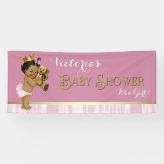 Ethnic Princess Baby Shower Banner