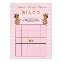 Ethnic Princess Baby Shower Bingo Card