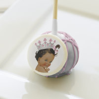 Ethnic Princess Baby Shower Cake Pops