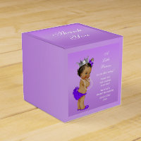 Ethnic Princess Baby Shower Lavender Favor Box