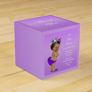 Ethnic Princess Baby Shower Lavender Favor Box