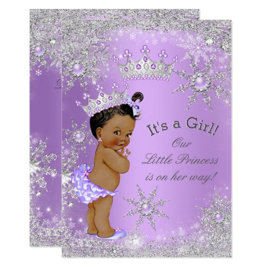 Ethnic princess baby shower lavender wonderland card zazzle ethnic princess baby shower lavender wonderland card filmwisefo Choice Image