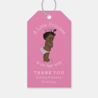 Ethnic Princess Baby Shower Pink Personalized Gift Tags