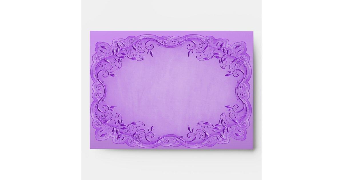 Ethnic Princess Baby Shower Purple Frame Envelope Zazzle