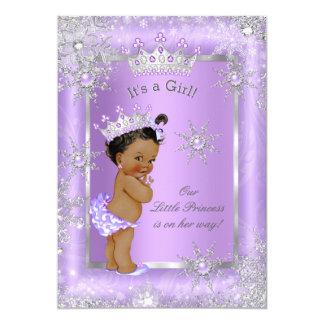 Ethnic Princess Baby Shower Purple Wonderland Card