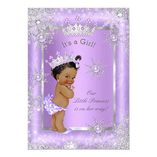 ethnic princess baby shower purple wonderland card   zazzle, Baby shower invitations
