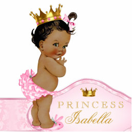 Ethnic Princess Baby Shower Statuette