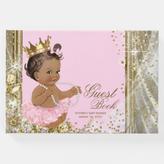 Ethnic Princess Ballerina Baby Shower Guest Book