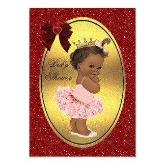 Ethnic Princess Ballerina Fake Gold Foil Glitter Card