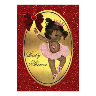 Ethnic Princess Ballerina Faux Gold Foil Glitter Card
