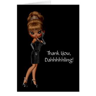 Ethnic Princess Diva Thank You Card