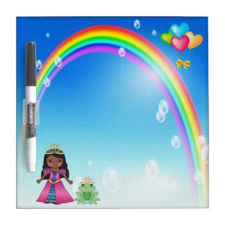 Ethnic Princess, Frog & Rainbow Dry Erase Board