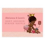 Ethnic Princess on Phone Chevrons Diaper Raffle Large Business Card