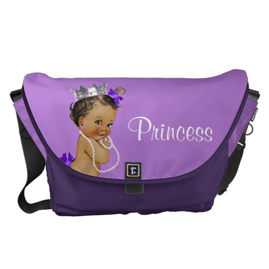 Ethnic Princess Pearls Lavender Baby Diaper Bag