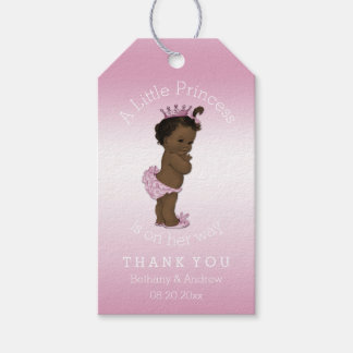Ethnic Princess Pink Baby Shower Personalized Gift Tags